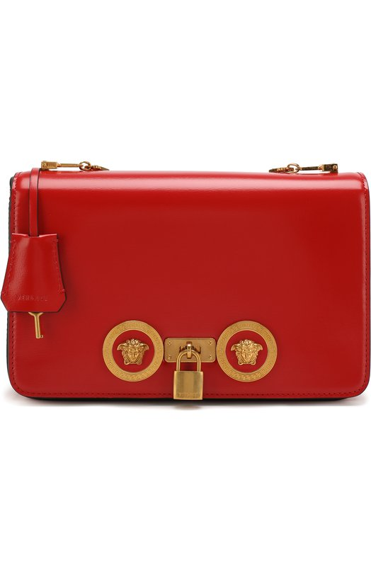 Купить Сумка Tribute на цепочке Versace, DBFG303/DV2T, Италия, Красный, Кожа натуральная: 100%;