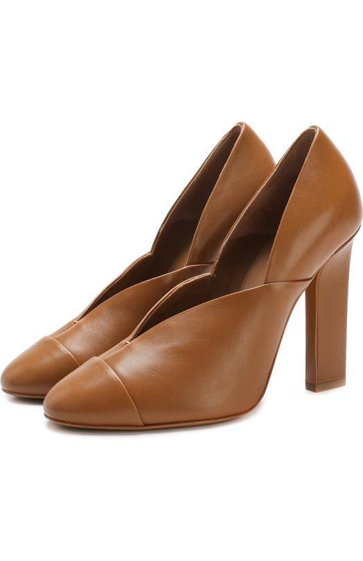 Кожаные туфли Lucie на устойчивом каблуке Victoria Beckham Victoria Beckham