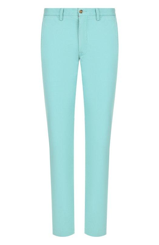 Купить Хлопковые брюки прямого кроя Polo Ralph Lauren, 710704176, Шри-Ланка, Салатовый, Хлопок: 97%; Эластан: 3%;