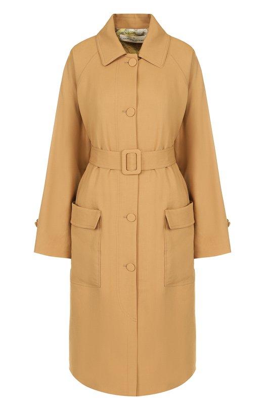 Купить Однотонное шерстяное пальто с поясом Golden Goose Deluxe Brand, G32WP067.A2, Италия, Бежевый, Подкладка-вискоза: 51%; Подкладка-хлопок: 49%; Шерсть: 100%;