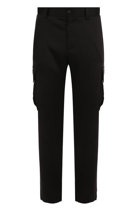 Купить Шелковые брюки-карго Versace, A79362/A224423, Италия, Черный, Шелк: 100%;