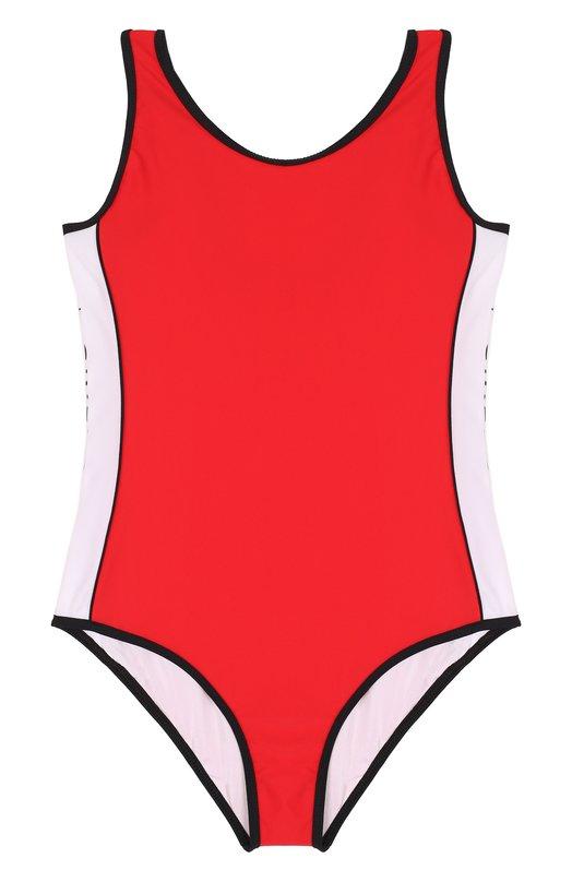 Слитный купальник с контрастной отделкой Givenchy