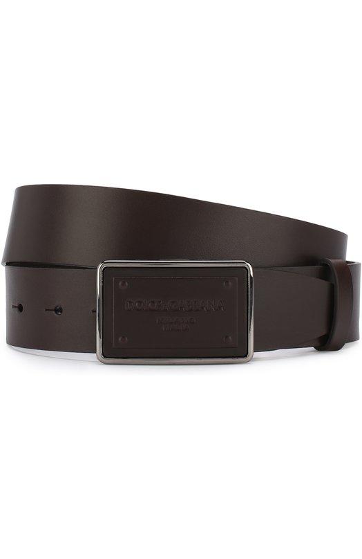 Купить Кожаный ремень с металлической пряжкой Dolce & Gabbana, BC4209/AC493, Италия, Коричневый, Кожа натуральная: 100%; Пряжка-мет.сплав: 100%;