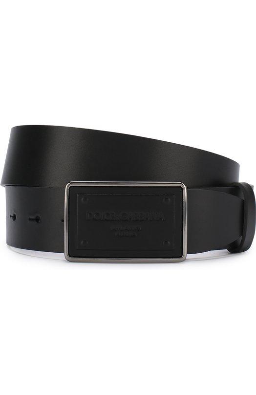 Купить Кожаный ремень с металлической пряжкой Dolce & Gabbana, BC4209/AC493, Италия, Черный, Кожа натуральная: 100%; Пряжка-мет.сплав: 100%;