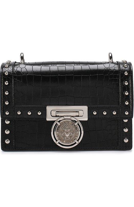 Купить Сумка Bbox 20 Balmain, S8F/S108/PCLC, Италия, Черный, Кожа натуральная: 100%;
