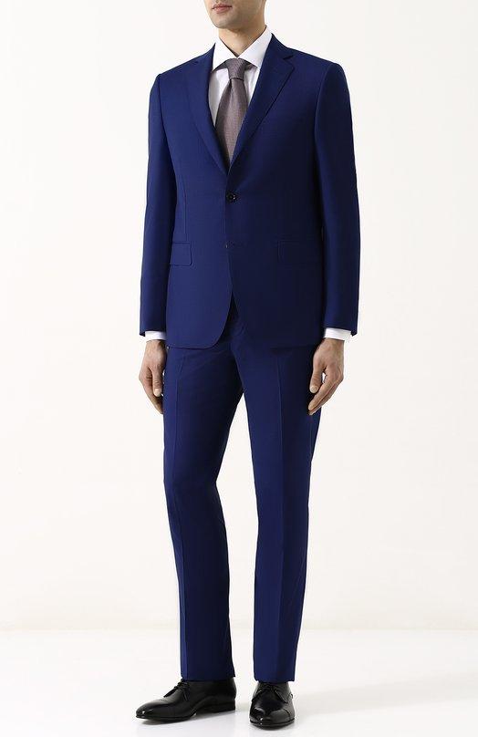 Купить Шерстяной костюм с пиджаком на двух пуговицах Pal Zileri, M33B622K2--33582, Италия, Синий, Шерсть: 100%; Подкладка-купра: 100%;