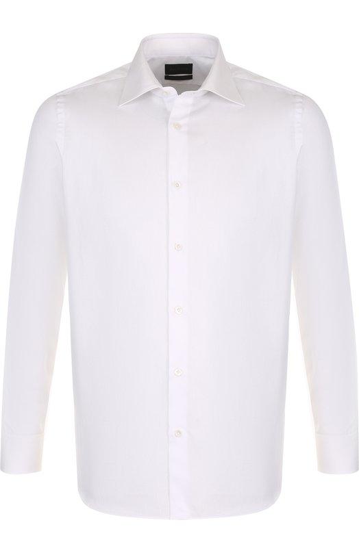 Купить Хлопковая сорочка с воротником акула Pal Zileri, M370G45S---30706, Италия, Белый, Хлопок: 100%;