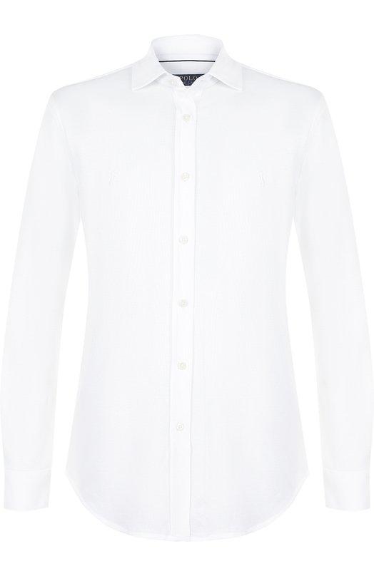 Купить Хлопковая рубашка с воротником акула Polo Ralph Lauren, 710694154, Китай, Белый, Хлопок: 100%;