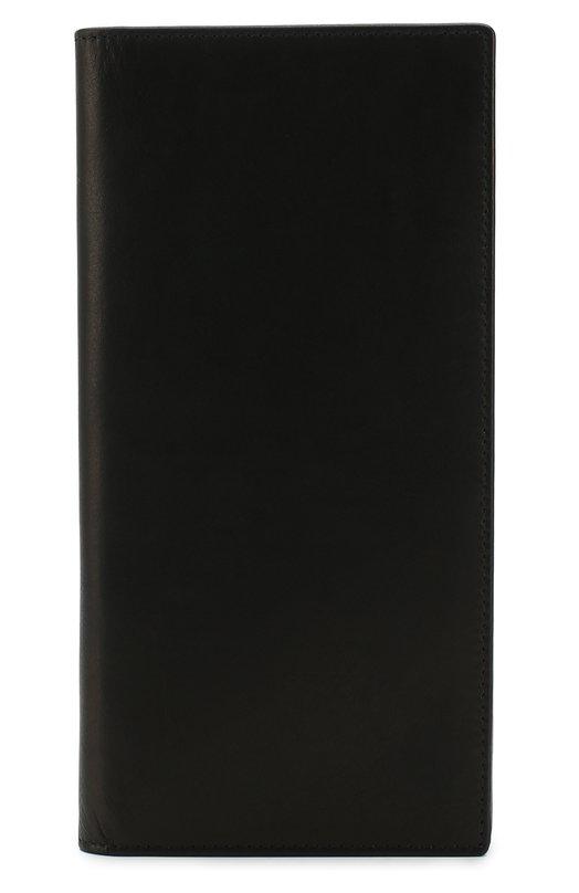 Купить Кожаный футляр для документов с отделениями для кредитных карт Ann Demeulemeester, 1801-8210-334-099, Испания, Черный, Кожа натуральная: 100%;