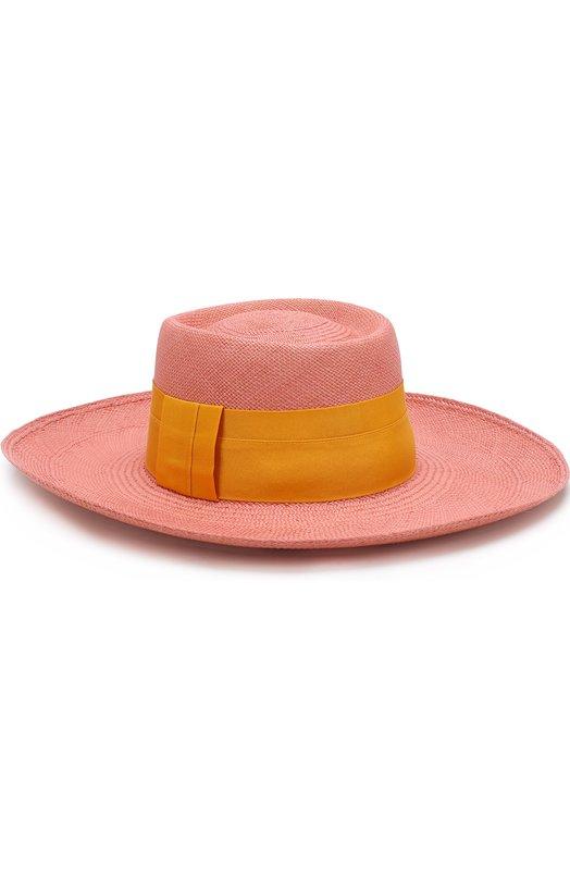 Купить Соломенная шляпа с лентой Artesano, P0W309, Эквадор, Розовый, Соломка: 100%;