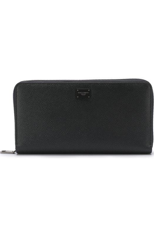 Купить Кожаный футляр для документов на молнии Dolce & Gabbana, BP2219/AI359, Италия, Темно-серый, Кожа натуральная: 100%;