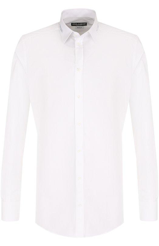 Купить Хлопковая сорочка с воротником кент Dolce & Gabbana, G5EY2T/FU5GK, Италия, Белый, Хлопок: 100%;