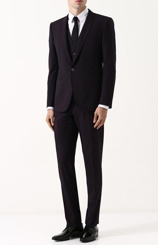 Купить Шерстяной костюм-тройка Dolce & Gabbana, GK0UMT/FUBEC, Италия, Бордовый, Шерсть овечья: 98%; Эластан: 2%; Подкладка-вискоза: 100%;
