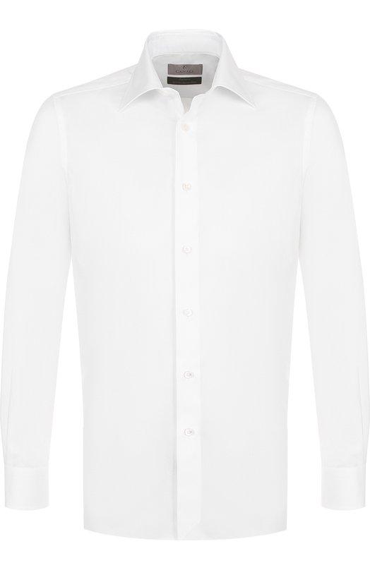 Купить Хлопковая сорочка с воротником кент Canali, XX05/GE00258, Италия, Белый, Хлопок: 100%;