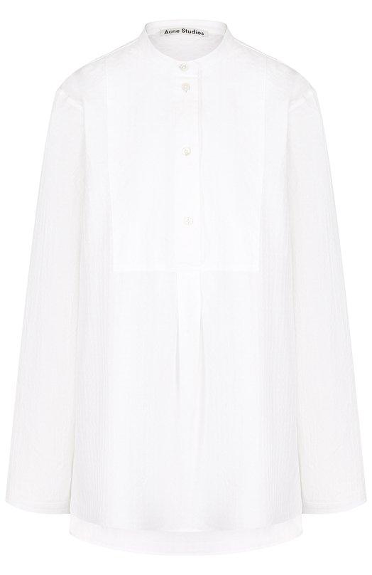 Купить Однотонная хлопковая блуза свободного кроя Acne Studios, 11E176, Португалия, Белый, Хлопок: 100%;