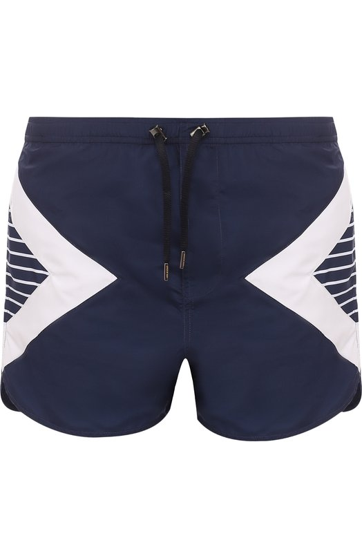 Купить Плавки-шорты с принтом Neil Barrett, PBCB106V/G038S, Тунис, Темно-синий, Полиэстер: 100%;