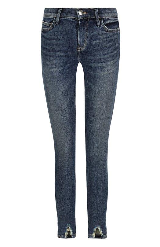 Купить Укороченные джинсы-скинни с потертостями Current/Elliott, 17-5-001204-PT1280, Китай, Синий, Хлопок: 94%; Полиэстер: 4%; Эластан: 2%;
