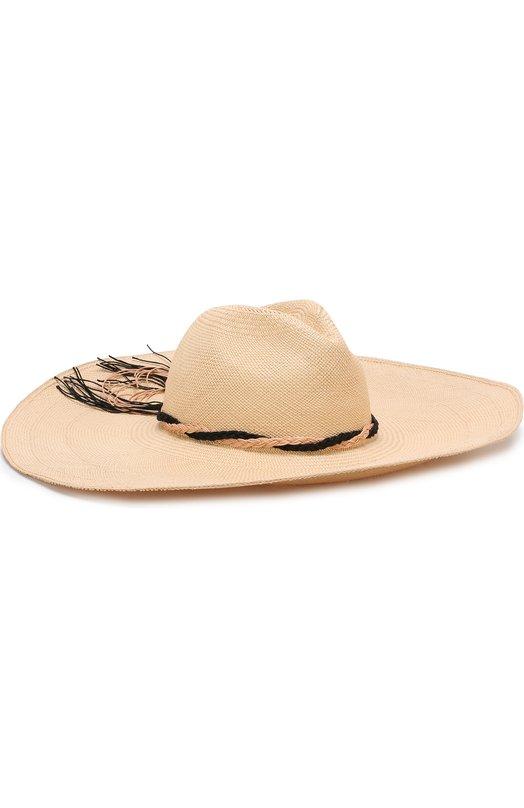 Соломенная шляпа с плетеной тесьмой Artesano, PLC314, Эквадор, Кремовый, Соломка: 100%;  - купить