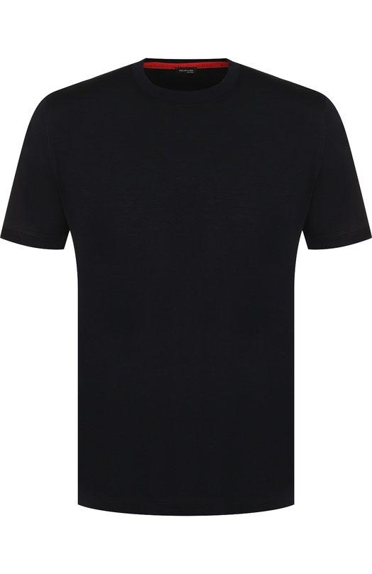 Купить Хлопковая футболка с круглым вырезом Kiton, UK843/ME18K4002, Италия, Черный, Хлопок: 100%;
