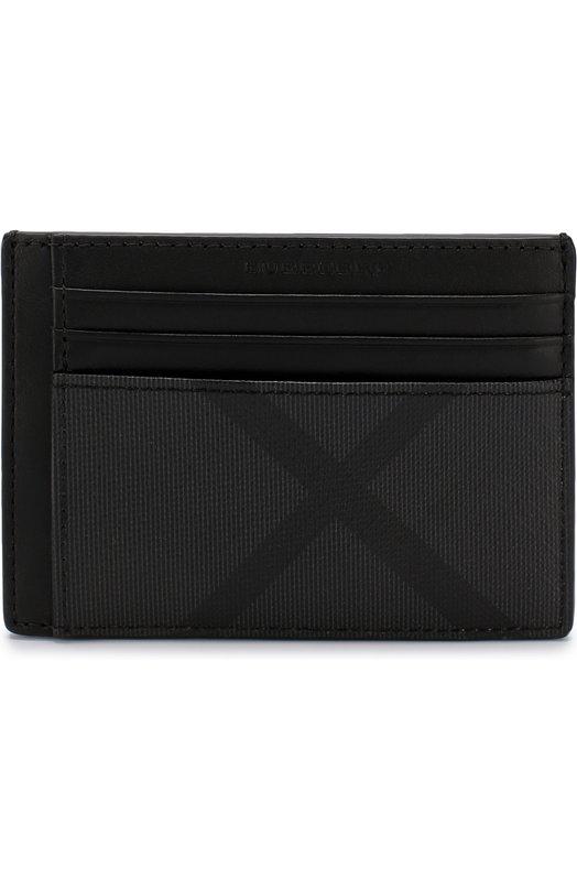Футляр для кредитных карт в клетку London Check Burberry, 4056424, Китай, Черный, Поливинилхлорид: 100%;  - купить