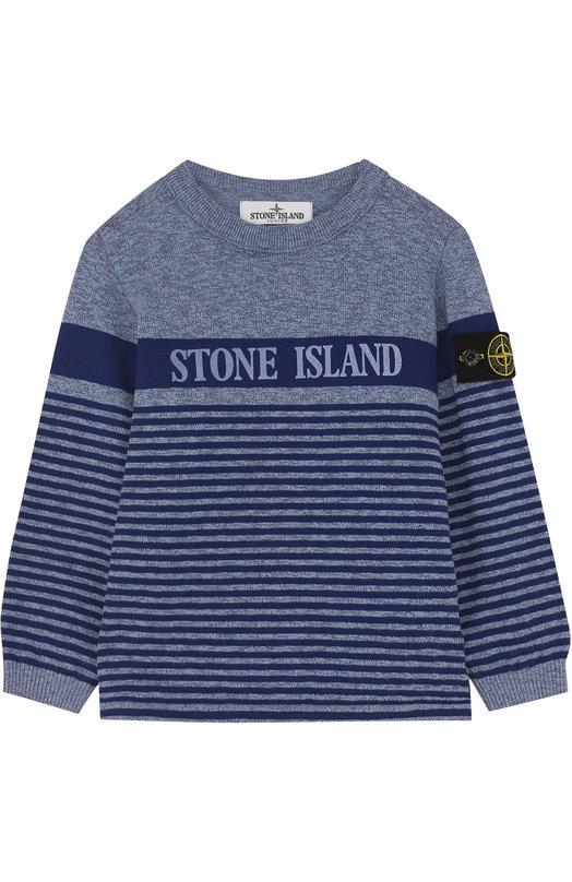 Пуловер джерси в полоску Stone Island
