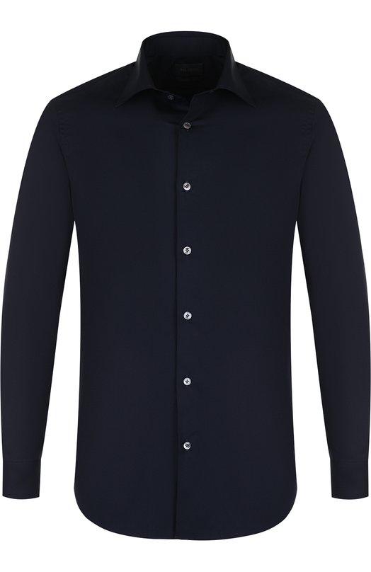 Купить Хлопковая рубашка с воротником кент Pal Zileri, M370G45S---30784, Италия, Темно-синий, Хлопок: 100%;