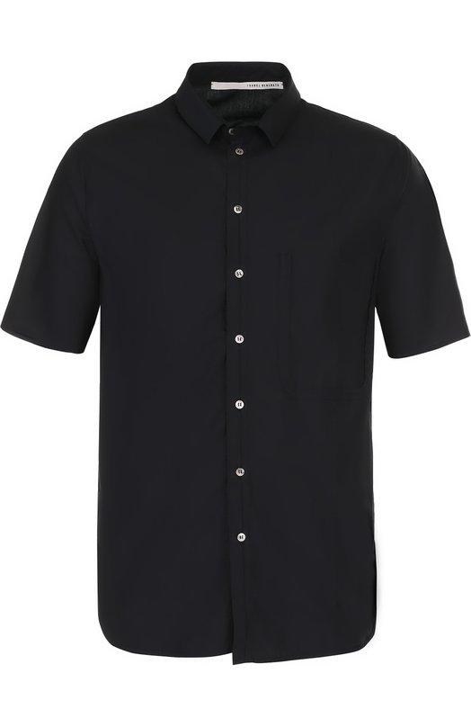 Купить Хлопковая рубашка с короткими рукавами Isabel Benenato, UW43S18, Италия, Черный, Хлопок: 100%;