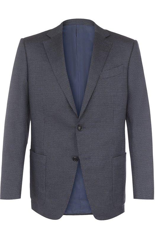 Купить Однобортный пиджак Ermenegildo Zegna, 359048/122520, Испания, Голубой, Хлопок: 55%; Вискоза: 25%; Кашемир: 20%; Подкладка-Купра: 100%;