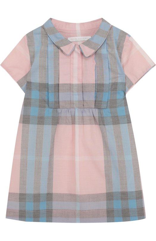 Купить Хлопковое мини-платье с принтом Burberry, 4066822, Китай, Разноцветный, Хлопок: 100%; Подкладка-хлопок: 100%;