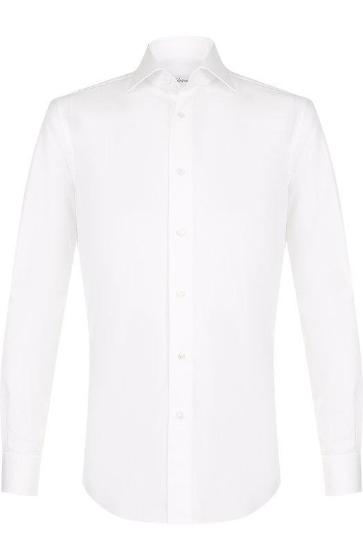 Хлопковая сорочка с воротником кент Brioni, RCLD12/PZ001, Италия, Белый, Хлопок: 100%;  - купить