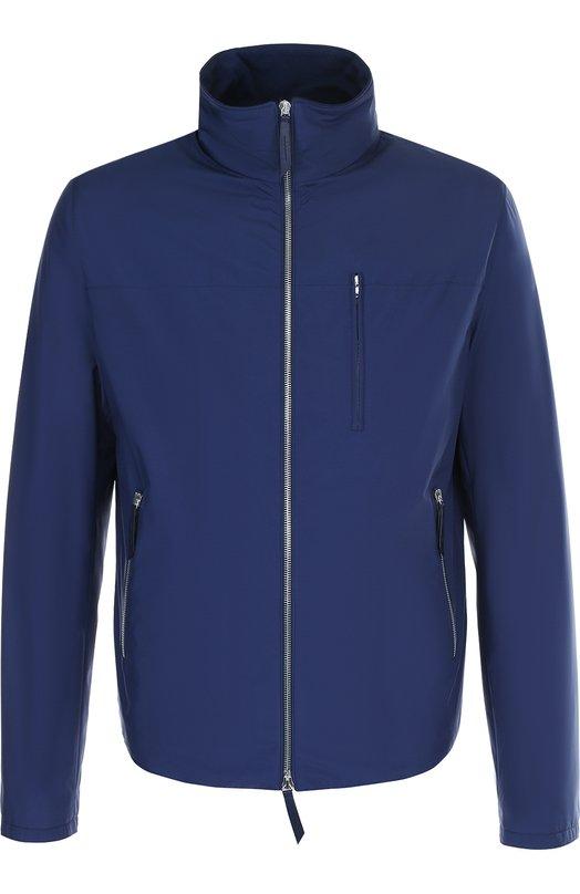 Купить Куртка на молнии с воротником-стойкой Andrea Campagna, 89700E0012600, Франция, Темно-синий, Подкладка-шелк: 100%; Полиамид: 100%;