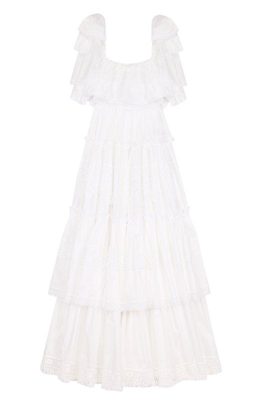 Многоярусное кружевное платье-макси Dolce & Gabbana Dolce & Gabbana