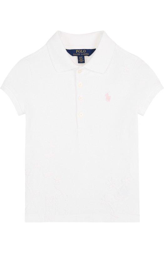 Купить Хлопковое поло с логотипом бренда Polo Ralph Lauren, 311688686, Китай, Белый, Хлопок: 98%; Эластан: 2%;