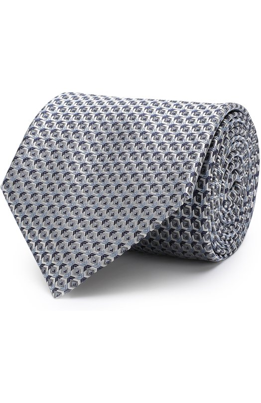 Купить Шелковый галстук с узором Brioni, 062I00/P7466, Италия, Серый, Шелк: 100%;