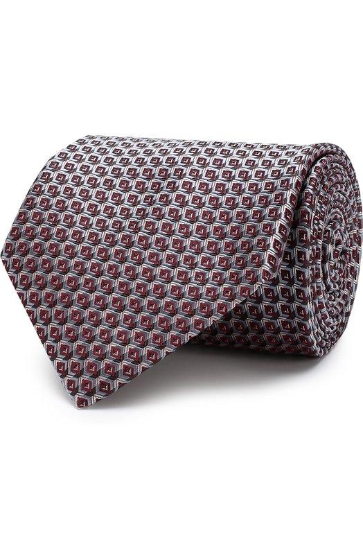 Купить Шелковый галстук с узором Brioni, 062I00/P7466, Италия, Бордовый, Шелк: 100%;