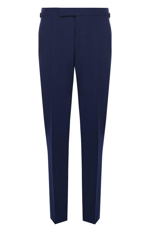 Купить Шерстяные брюки прямого кроя Tom Ford, 922R74610043, Швейцария, Синий, Шерсть: 100%; Подкладка-купра: 100%;