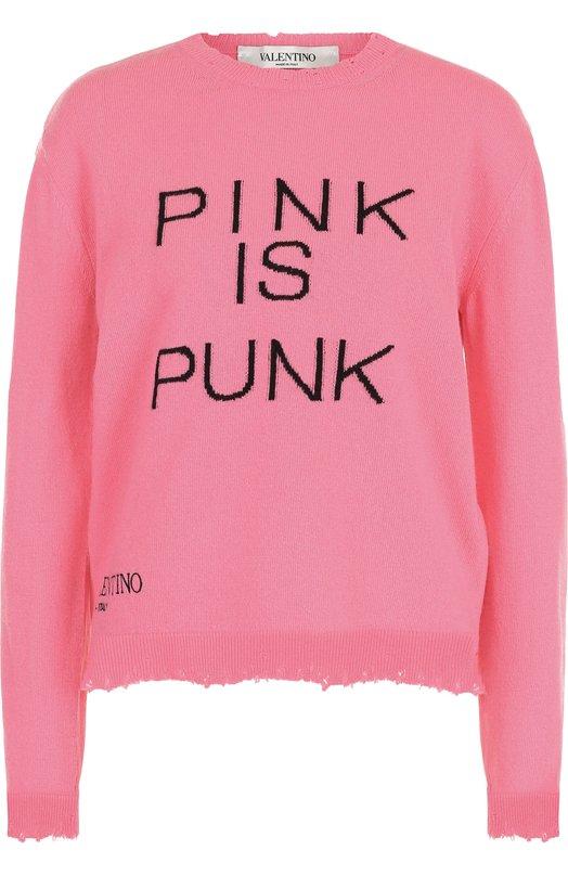 Пуловер из смеси шерсти и кашемира с надписью Valentino