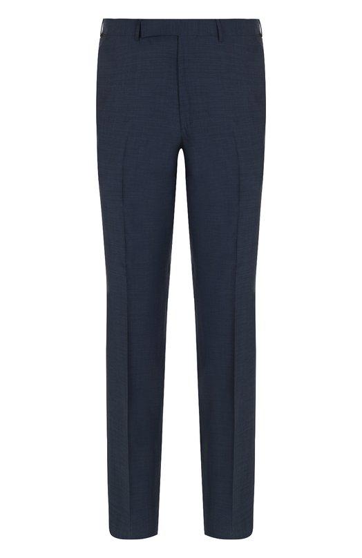 Купить Шерстяные брюки прямого кроя со стрелками Ermenegildo Zegna, 311F09/75SB12, Португалия, Темно-синий, Шерсть: 100%;