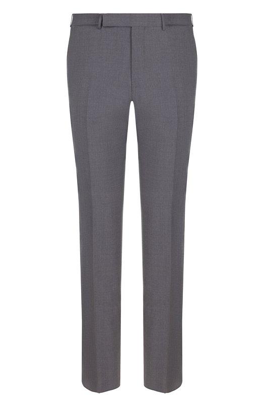 Купить Шерстяные брюки прямого кроя Ermenegildo Zegna, 311F01/75SB12, Португалия, Светло-серый, Шерсть: 100%; Подкладка-вискоза: 100%;
