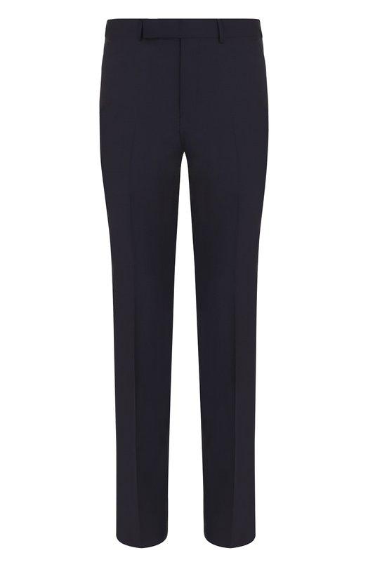 Купить Шерстяные брюки прямого кроя Ermenegildo Zegna, 311F04/75SB12, Португалия, Темно-синий, Шерсть: 100%; Подкладка-вискоза: 100%;