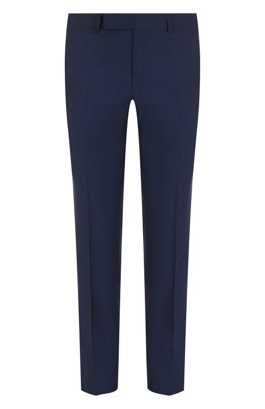 Купить Шерстяные брюки прямого кроя Ermenegildo Zegna, 311F21/75SB12, Португалия, Синий, Шерсть: 100%; Подкладка-вискоза: 100%;