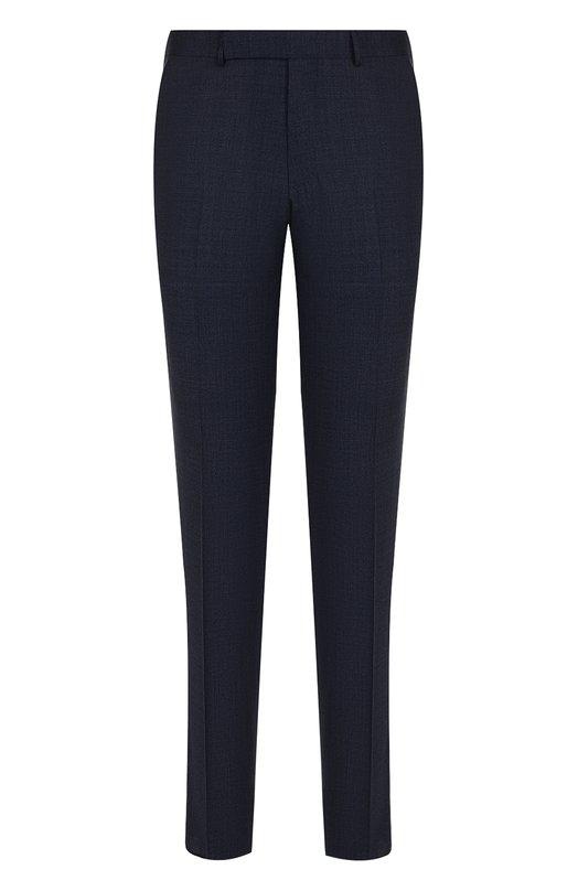 Купить Шерстяные брюки прямого кроя Ermenegildo Zegna, 329F18/75TB12, Португалия, Темно-синий, Шерсть: 99%; Подкладка-вискоза: 100%; Эластан: 1%;