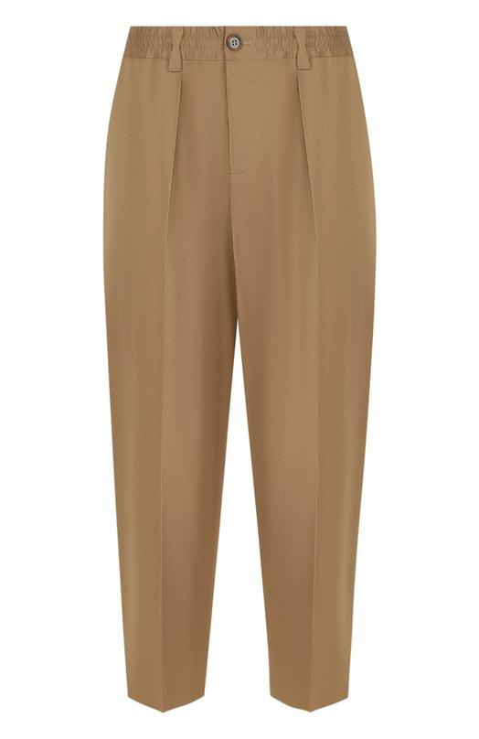 Купить Укороченные однотонные брюки из хлопка Marni, PUMUWKA095/45004, Италия, Бежевый, Хлопок: 100%;