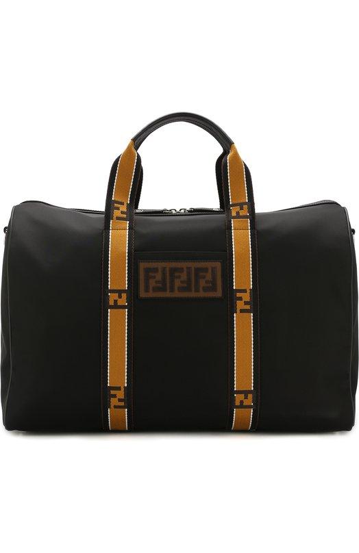 Текстильная сумка с отделкой из кожи Fendi