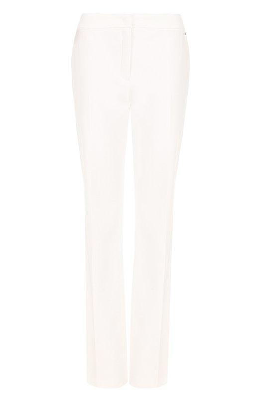 Купить Хлопковые расклешенные брюки со стрелками Escada, 5026037, Румыния, Бежевый, Хлопок: 98%; Эластан: 2%;