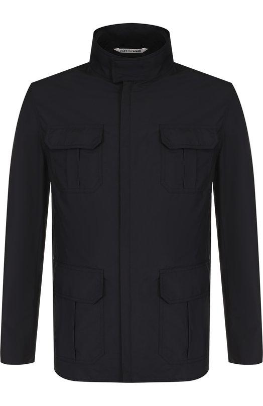 Купить Куртка на молнии с капюшоном Andrea Campagna, 89000E0012600, Франция, Темно-синий, Подкладка-шелк: 100%; Полиамид: 100%;