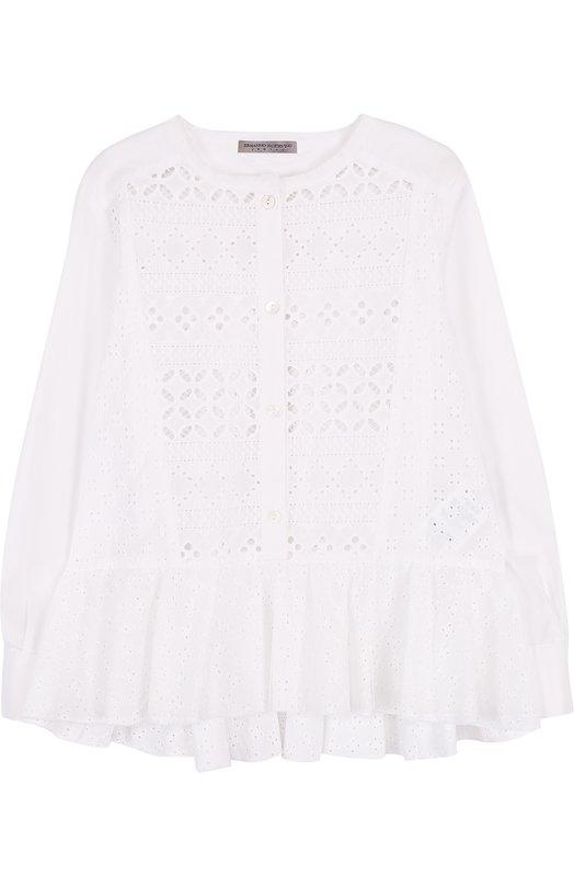 Кружевная блуза с баской Ermanno Scervino