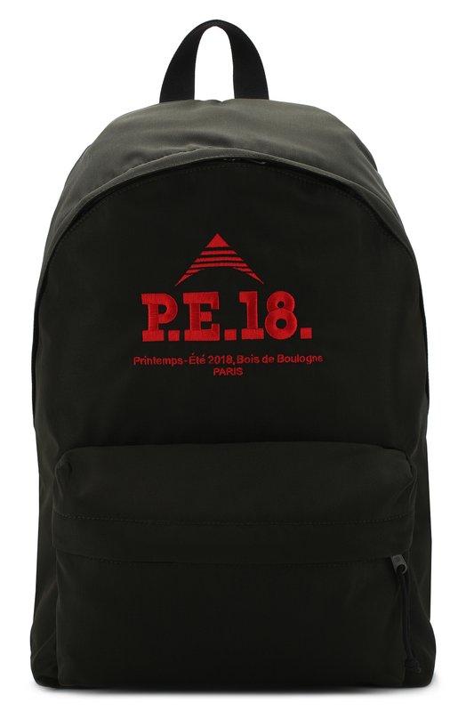 Купить Текстильный рюкзак с внешним карманом на молнии Balenciaga, 503221/9D0G5, Италия, Хаки, Нейлон: 100%;