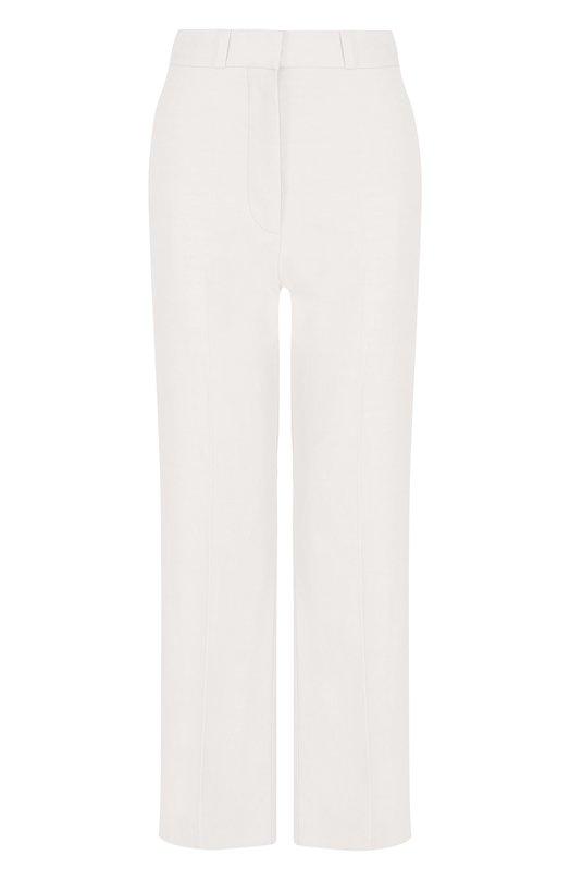Укороченные однотонные брюки со стрелками Stella McCartney, 493888/SIA03, Венгрия, Белый, Полиамид: 40%; Хлопок: 36%; Лен: 24%;  - купить