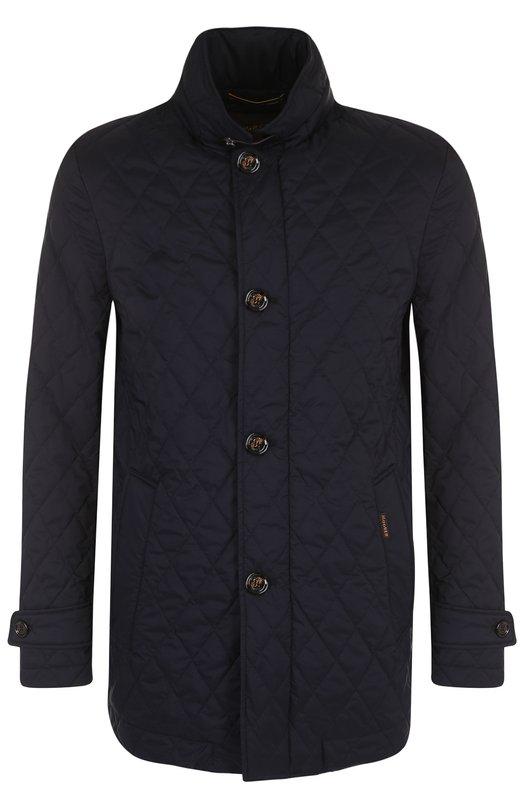 Купить Стеганая куртка на молнии с воротником-стойкой Moorer, DI0NISI0-S3, Италия, Темно-синий, Полиамид: 95%; Подкладка-полиэстер: 50%; Подкладка-хлопок: 50%; Полиуретан: 5%;